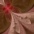Beautiful fractal flower in beige, brown and pink. Computer gene