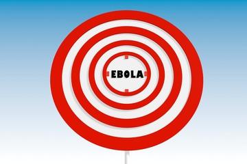 ebola fever virus relative background with target