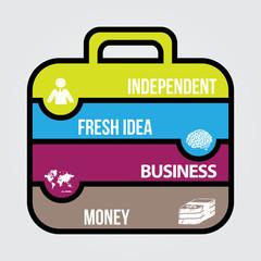 flat design for business plan