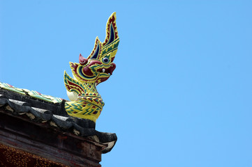King of Nagas statue on blue sky