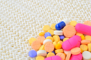 colorful medicine capsule pill
