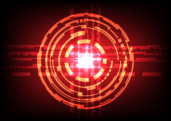 Abstract circle light effect  dark red  background