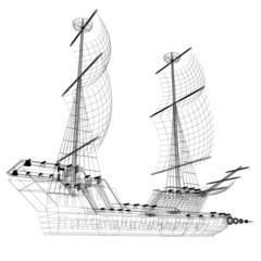 3d model ship