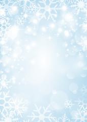 Hintergrund Schnee blau
