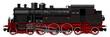 the old steam locomotive - 71389340