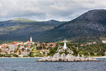 Trogir area, Croatia view from the sea