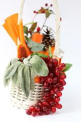 Autumn decoration basket