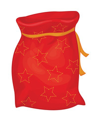 Vector Santa Claus sack isolated.
