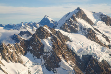 Mountain Cook Range Landscape New Zealand