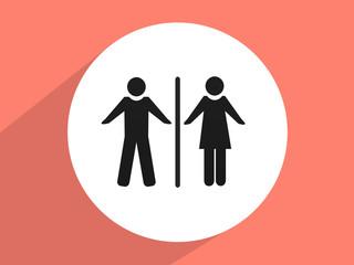 Man & Woman restroom sign ,Flat design styl