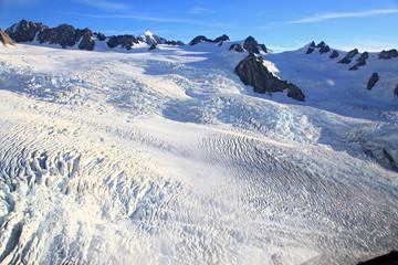 Franz Josef glacier at top view