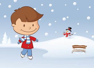 Winter Skating Boy