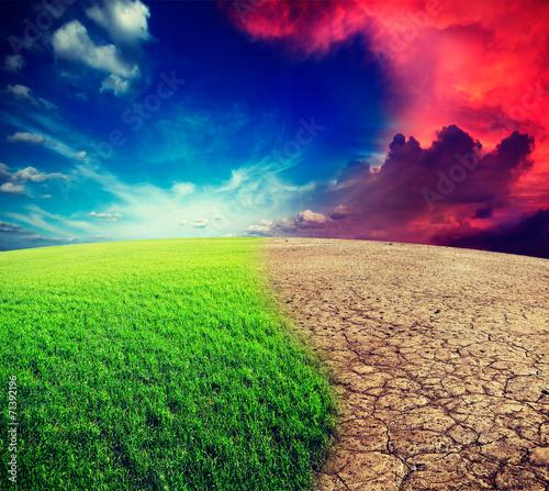 Leinwandbild Motiv Climate change