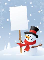 Snowman's Winter Message