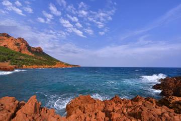 Les roches rouge de Agay,St Raphaël,var,côte d'Azur
