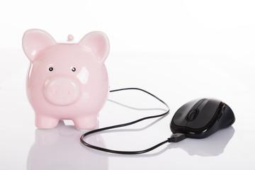 Online finance concept