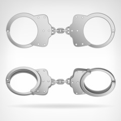 handcuff set isolated object 3D vector