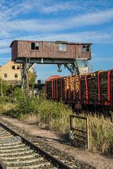 Holzkran Beladung Güterverkehr