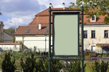 Retro style empty billboards