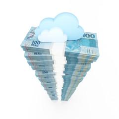 Cloud computing concept, money