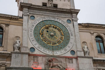 La torre dell'orologio di Padova, Padova, Veneto, Italia