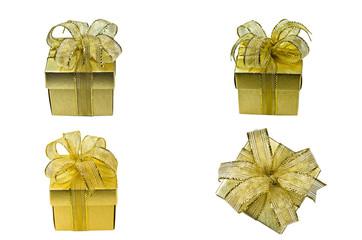 Gold Chrismas Gift Box