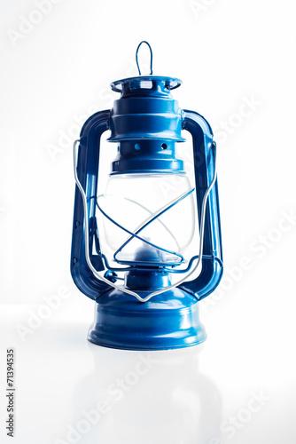 canvas print picture Öllampe blau