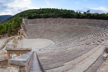 Ancient Theatre of Epidaurus, Peloponnese, Greece