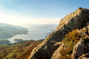 Stunning view of Loch Katrina from Ben A'an, Scottish Highlands