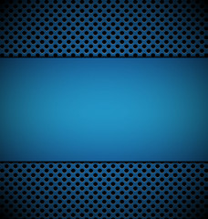blank blue plate for design on blue grill texture background vec