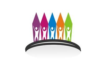 sucses teamwork Patner Bisnis Logo design