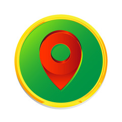 Map pin pointer icon location symbol vector
