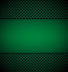 bllank green plate for design on green grill texture background