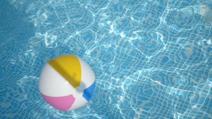 beach ball in the pool