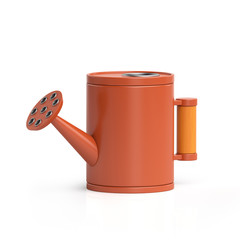 3D illustration. Watering can for care of flowers on a white bac