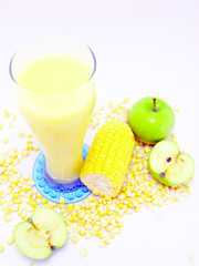 fresh sweet corn juice corn milk