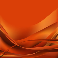 Colorful waves isolated abstract background orange and brown