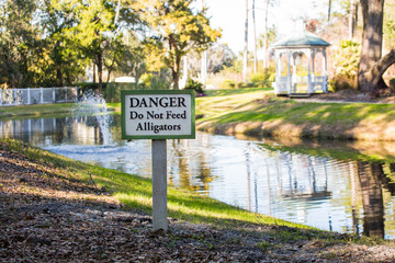 Danger Do Not Feed Alligators