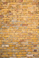 Old Yellow Brick and Mortar Wall