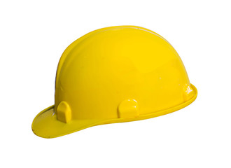 Plastic safety helmet