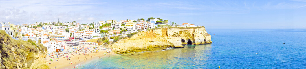 Panorama from Carvoeiro in Portugal