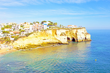 The village Carvoeiro in Portugal
