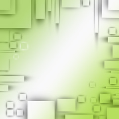 cubic green background