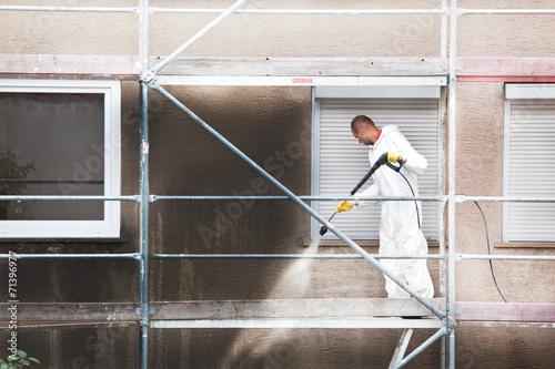 Leinwandbild Motiv reinigungs service gebäudereinigung