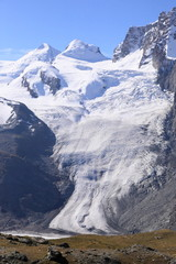 beautiful glacier at Matterhorn mountain, Switzerland