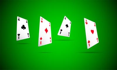 asso di cuori, poker, carta