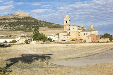 landscape from Castrojeriz - ancient Spanish village