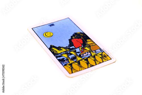 タロットカード カップ8