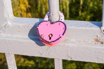 Love symbol.Happy Wedding Lock