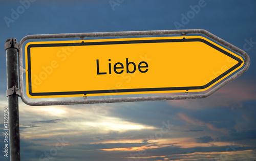 canvas print picture Strassenschild 19 - Liebe